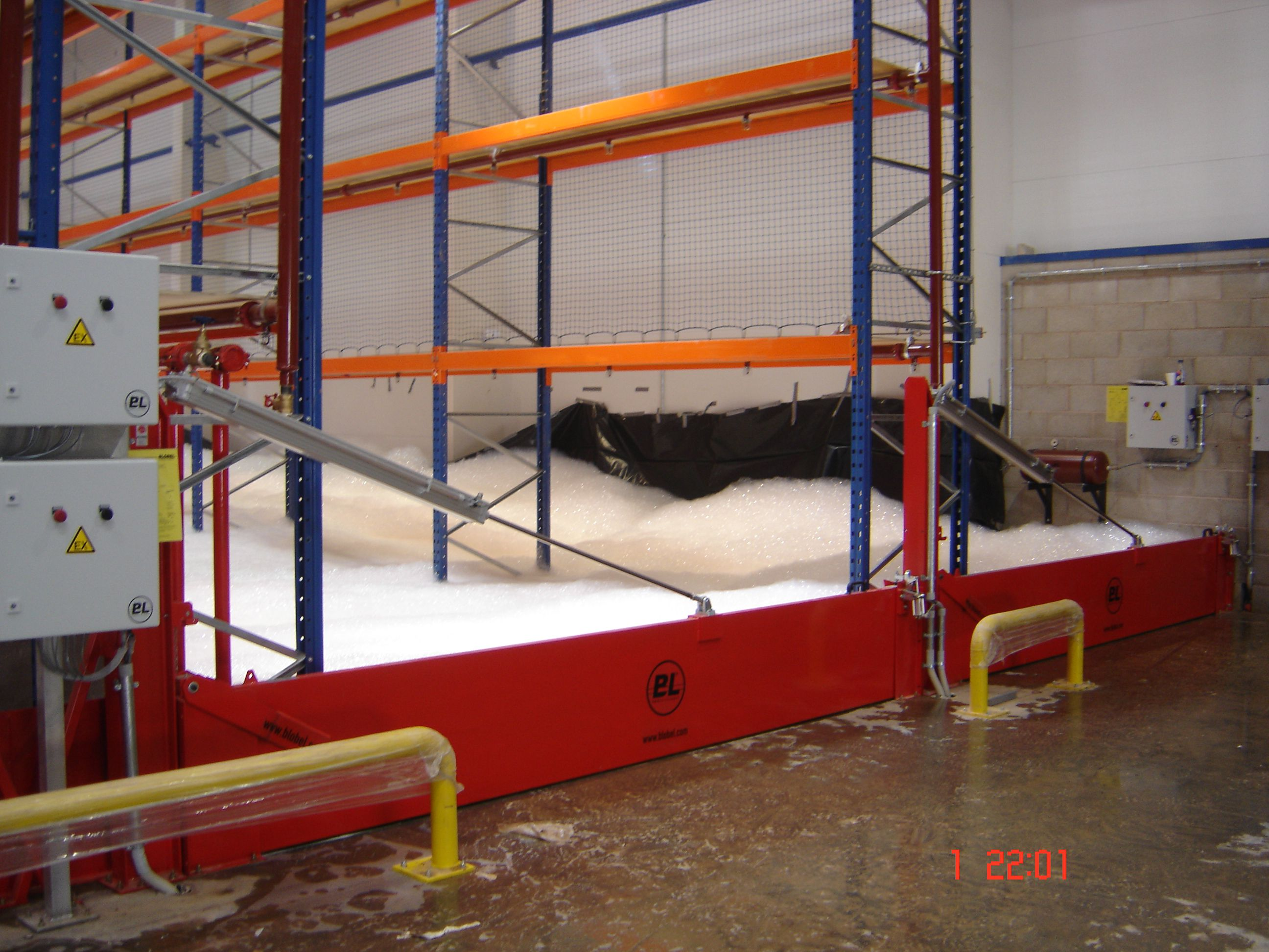 automatic blobel doorway spill barrier BL-BED-PM